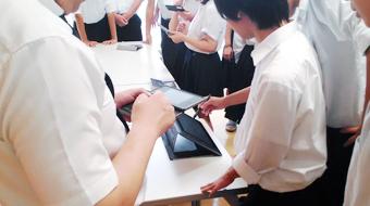 株式会社ワコムアイティ 松江東高校企業見学の様子2